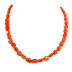 Gemstone Necklaces - NirvanaGems Natural 18 Inches 158 Ct Carnelian Beads Gemstone Necklace