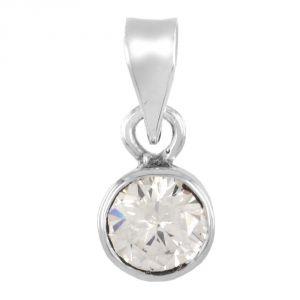 Gemstone Pendants - Nirvana Gems 15.25 Ratti Zircon Pendant in Pure Silver - (YSP-26J-PNDT)