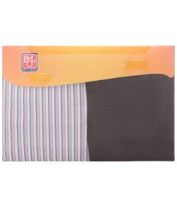 Bsl Men's Wear - BSL Unstitched Formal Set of Multicoloured Striped Shirt & Gray Plain Trousers