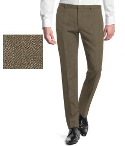 Gwalior Suitings Brown Poly Blend Unstitched Pant PC