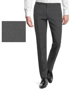 Suit length & fabric - Gwalior Suitings Gray Poly Blend Unstitched Pant Pc