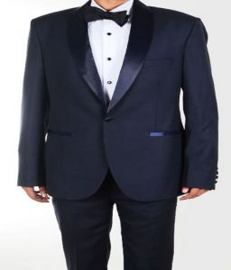 Blazers & Suits (Men's) - Gwalior Premium Suit Length - Navy Blue