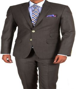 Blazers & Suits (Men's) - Gwalior Premium Suit Length - Brown