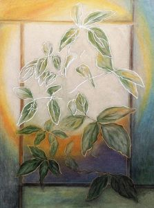 Paintings - Leaves at Morning Window (Peace)