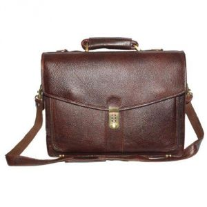 "Laptop Bags - Chanter Texture design Genuine Leather Brown 16"" Laptop bag - EA127"