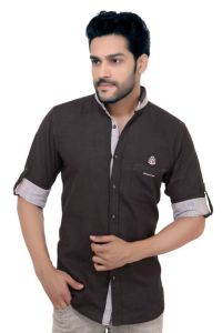 "Goplay Cotton Black Full Sleeve Men""s Shirt-(code-gp18320b)"