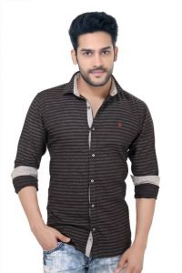 "Goplay Cotton Black Full Sleeve Men""s Shirt-(code-gp18401a)"