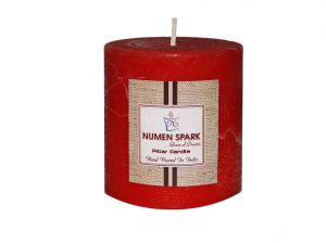 Amour Rose Scented Rustic Pillar Candle (3 Inch X 3 Inch)