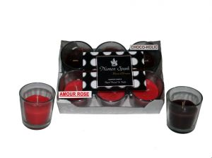 Amour Rose-Chocoholic  Dual-Scent Votive Candle (pack Of 6)