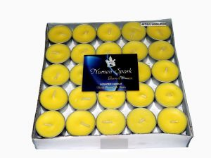 Antique Sandalwood Tea-light Candle(pack Of 50)