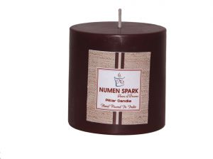 Choco-holic Scented Smooth Pillar Candle (3 Inch X 3 Inch)
