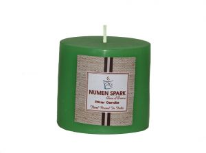 Cucumber Cantaloupe Scented Smooth Pillar Candle (3 Inch X 3 Inch)