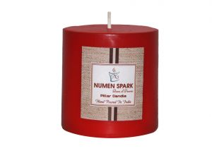 Amour Rose Scented Smooth Pillar Candle (3 Inch X 3 Inch)