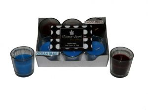 Ocean Blue-chocoholic Dual-scent Votive Candle (pack Of 6)