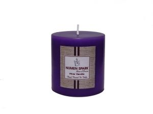 True Lavender Scented Smooth Pillar Candle (3 Inch X 3 Inch)