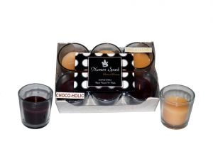 Chocoholic-vanilla Caramel Dual-scent Votive Candle (pack Of 6)