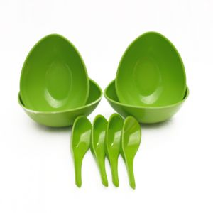 Czar Mixing 4 Bowl Set With Spoon-green