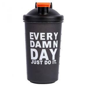 Czar 600 Ml Protein Shaker Gym Bottle With Spring Ball (black)
