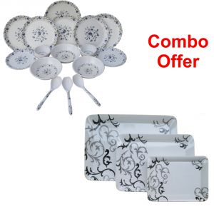 Czar Combo Of Dinner Set 1009 With E-5 Tray