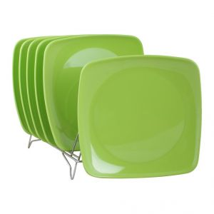 Czar New Square Half Plate Pack Of 6-green