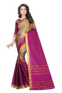 d3265b3388a Vedant Vastram Pink Colour Poly Silk Chanderi Printed Saree (Code -  vvm 1038 pink)