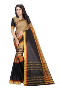 Vedant Vastram Grey Colour Poly Silk Chanderi Printed Saree (code - Vvm_1043_grey)