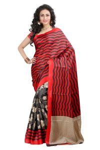 Vedant Vastram Red Colour Bhagalpuri Silk Printed Saree (code - Vvbs_menka)