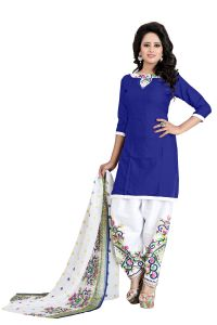 Vedant Vastram Blue Colour Poly Cotton Unstitched Printed Dress Matrial (code - Vvdm_monicaprintble)