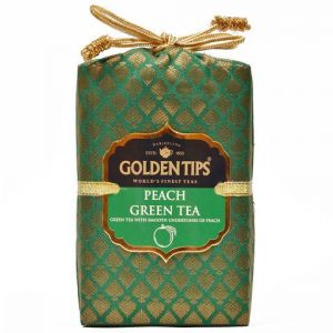 Golden Tips Peach Green Tea - Brocade Bag, 250g