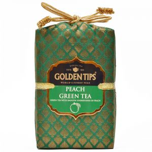 Golden Tips Peach Green Tea - Brocade Bag, 100g