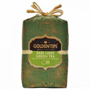 Golden Tips Earl Grey Green Tea - Brocade Bag, 100g