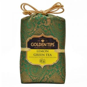 Golden Tips Lemon Green Tea - Brocade Bag, 100g