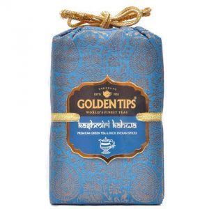 Golden Tips Kashmiri Kahwa Green Tea - Brocade Bag, 100g