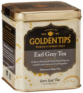 Golden Tips Darjeeling Earl Grey Tea - Tin Can, 100g