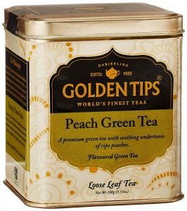 Golden Tips Peach Green Tea - Tin Can, 100g
