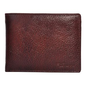 Wallets (Men's) - Tamanna Men Brown Genuine Leather Wallet  (5 Card Slots)