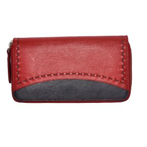 Tamanna Women Red, Black Genuine Leather Wallet Lww00005