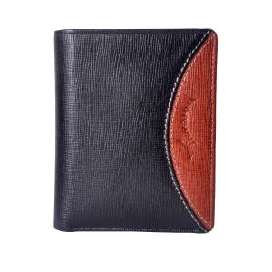 Tamanna Men Black Genuine Leather Wallet (9 Card Slots)