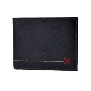 Tamanna Men Black Genuine Leather Wallet (7 Card Slots)
