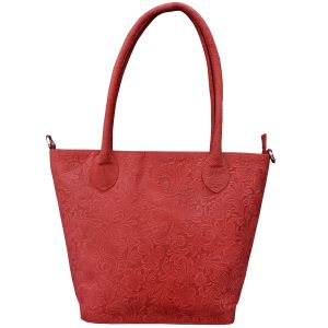 Tamanna Leather Red Hand Held Bag Lhbw00018