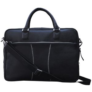Tamanna 15.6 Inch Expandable Laptop Messenger Bag (black)