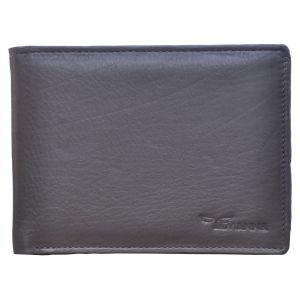 Tamanna Men Brown Genuine Leather Wallet (9 Card Slots)