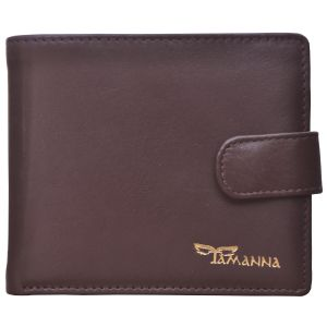 Tamanna Men Brown Genuine Leather Wallet (8 Card Slots)