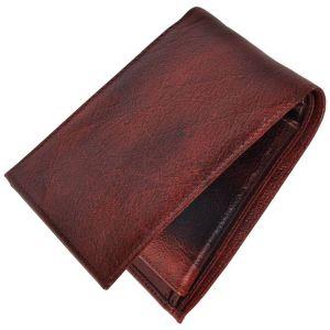 Belts ,Socks ,Wallets  - Tamanna Men Brown Genuine Leather Wallet LWM00080
