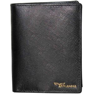 Tamanna Men Black Genuine Leather Wallet (11 Card Slots)