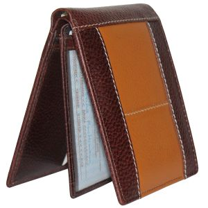 Tamanna Men Brown, Tan Genuine Leather Wallet (9 Card Slots)
