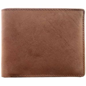 Tamanna Men Brown Genuine Leather Wallet (6card Slots)