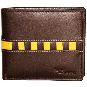 Tamanna Men Brown, Yellow Genuine Leather Wallet (6 Card Slots)