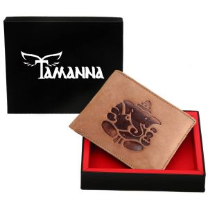 Tamanna Men Tan Genuine Leather Wallet (7 Card Slots) (code - Lwm00156-tm)