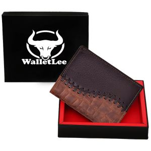Walletlee Men Brown Genuine Leather Wallet (8 Card Slots)